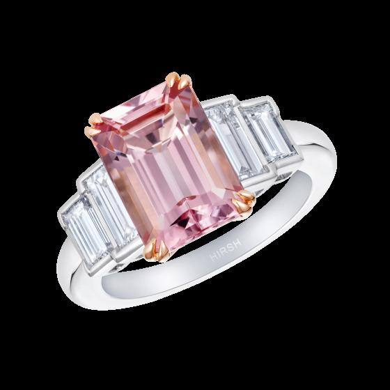 Artemis Morganite and Diamond Ring