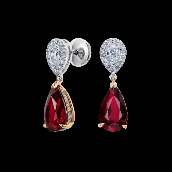 Burlington Ruby and Diamond Earrings