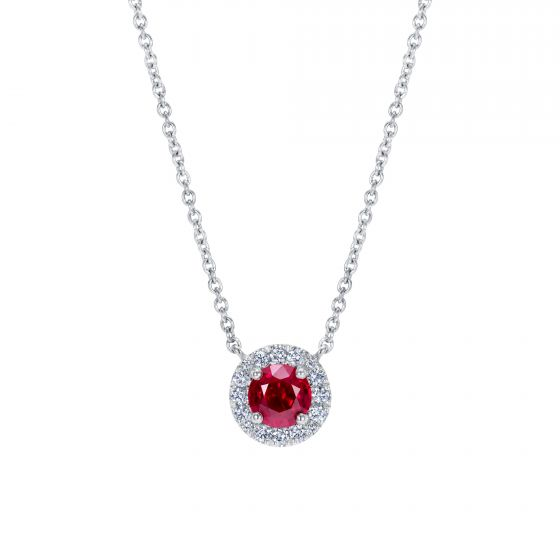 Regal Ruby and Diamond Pendant