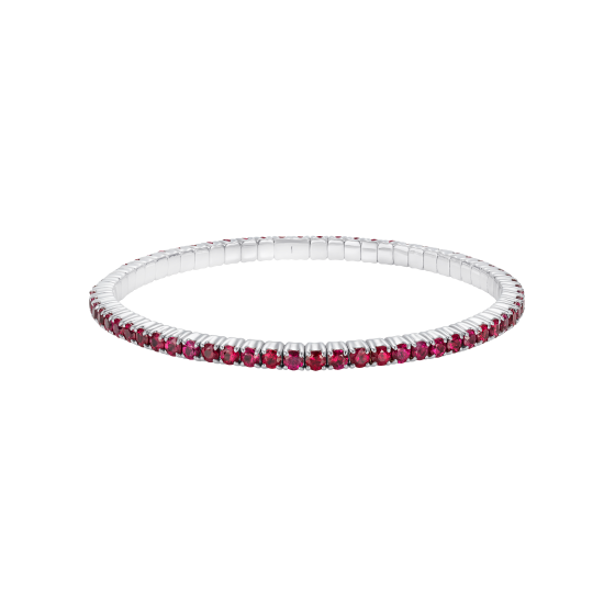 Large Advantage Ruby Bracelet in White Gold