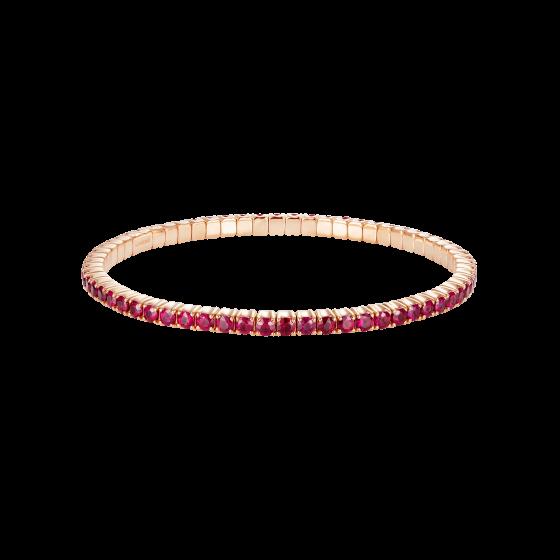 Large Advantage Ruby Bracelet in Rose Gold