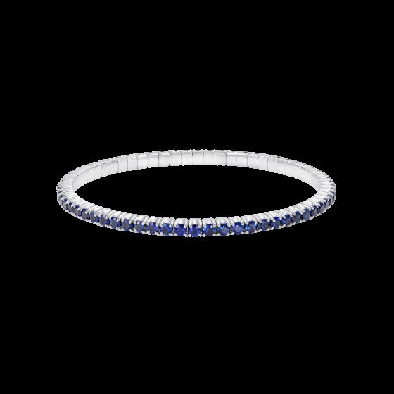 Large Advantage Sapphire Bracelet in White Gold
