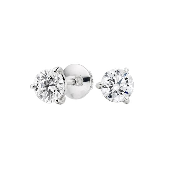 Solitaire Diamond Studs 0.70 Carats Total