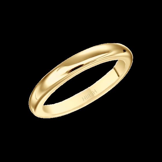 Yellow Gold Wedding Band 2.5 mm
