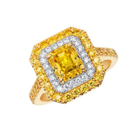 Regent Yellow Diamond Ring
