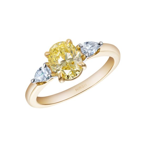 Trio Yellow Diamond Ring