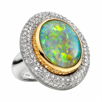 Élan Opal and Diamond Ring