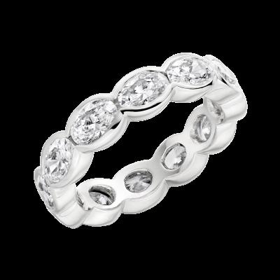 Eternity Oval Diamond Ring