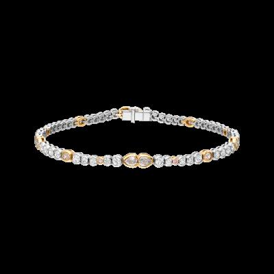 Petal Pink and White Diamond Bracelet
