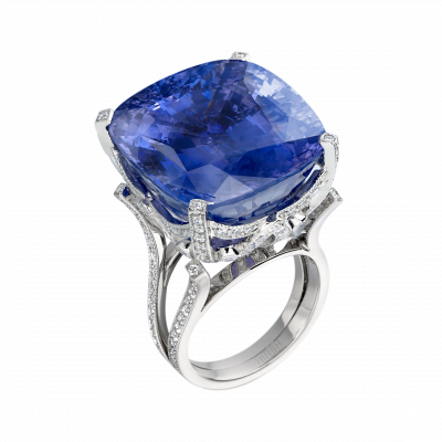 Serenity Sapphire and Diamond Ring