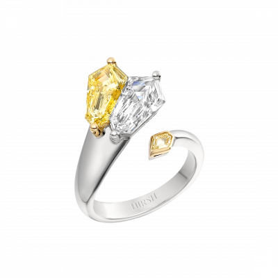 Fantail Natural Yellow and White Diamond