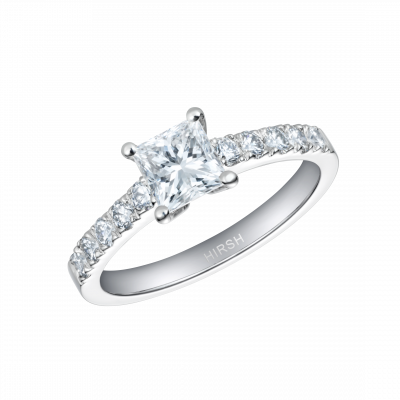 Reflection Ring with Princess Cut Diamond