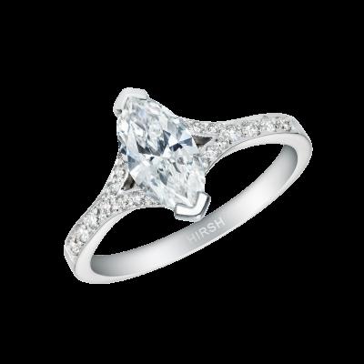 Bridge Ring with a Marquise Diamond
