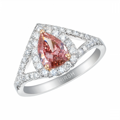 Harmony Ring set with Pear Shape Natural Pink Diamond