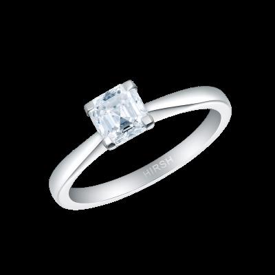 Solitaire Asscher Cut Ring