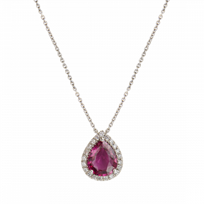 Regal Pendant with Pear Shape Ruby
