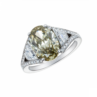Olive Green Diamond Majestic Ring