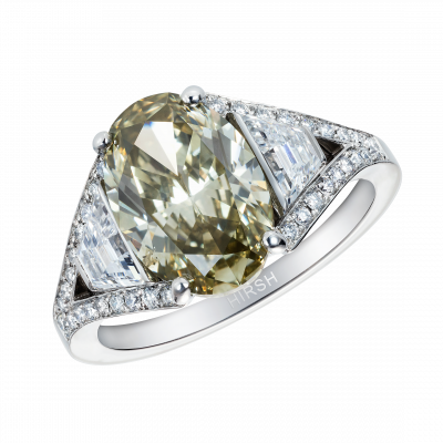 Majestic Olive Green Diamond Ring