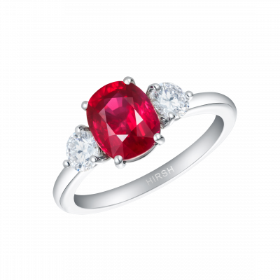 Trio Ruby and Diamond Ring