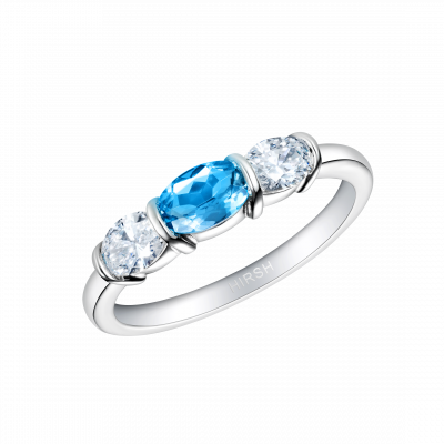 Synergy Aquamarine and Diamond Ring