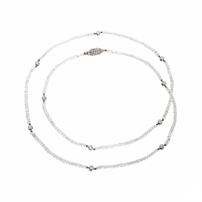 Briolette Diamonds in an Opera Length Necklace