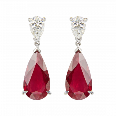Ruby and Diamond Wallace Drop Earrings