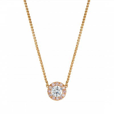 Regal Pendant with Natural Pink Diamonds
