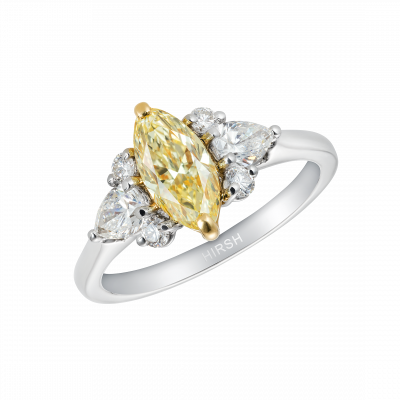Papillon Yellow Diamond Ring