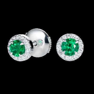 Regal Emerald Earrings