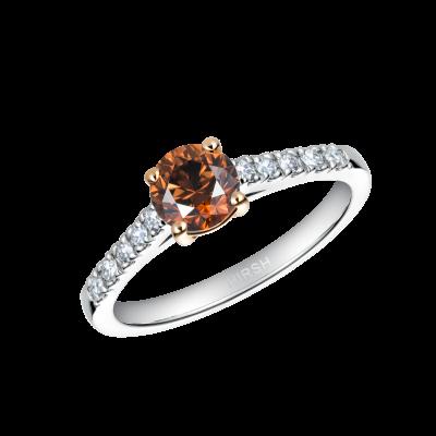 Reflection Cognac Diamond Ring