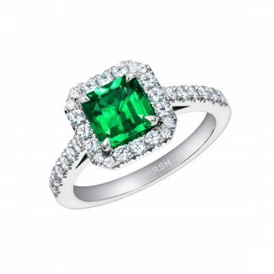Regal Cushion Cut Emerald Ring