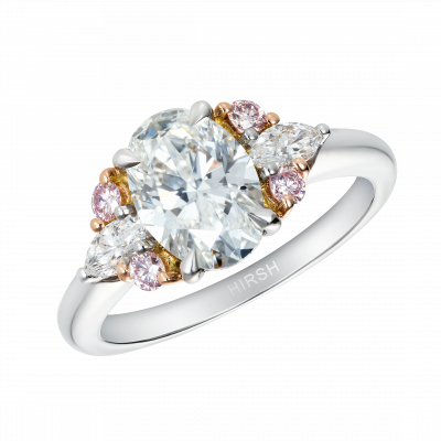 Papillon Ring with Natural Pink Diamonds