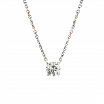Solitaire Round Brilliant Cut Diamond Pendant