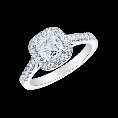 1.04 Carat Cushion Cut White Diamond Regal Ring