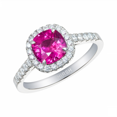 Cushion Cut Ruby Regal Ring