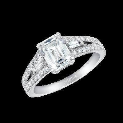 Majestic Emerald Cut Diamond Ring