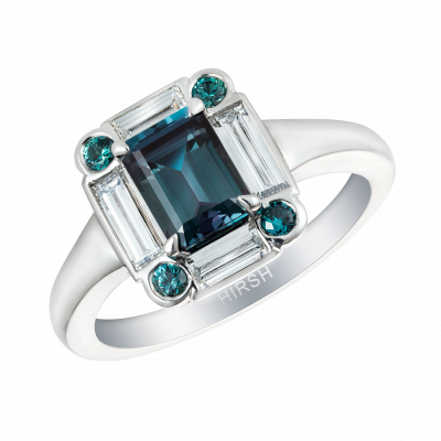 Alexandrite and Diamond Ice Ring