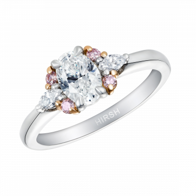 Papillon Diamond & Pink Diamond Ring