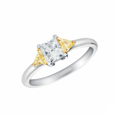 Trio Ring with Yellow Diamonds