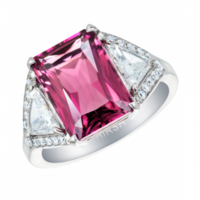 Majestic Pink Tourmaline and Diamond Ring