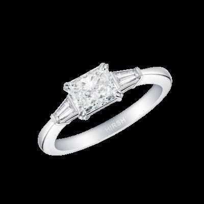 Trio Radiant Cut Diamond Ring