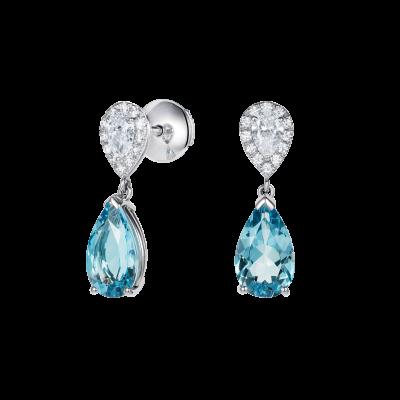 Burlington Aquamarine and Diamond Earrings