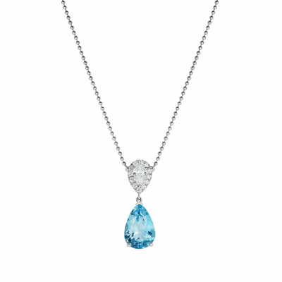 Burlington Aquamarine and Diamond Pendant
