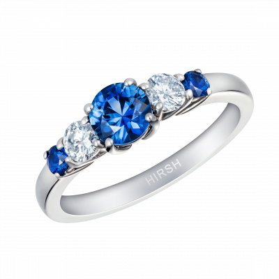Sapphire and Diamond Cinq Ring