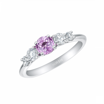 Cinq Pink Sapphire and Diamond Ring