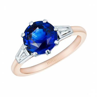Trio Ring with Round Sapphire
