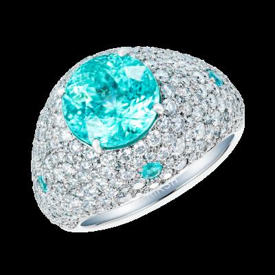 Nirvana Paraíba Tourmaline and Diamond Cocktail Ring