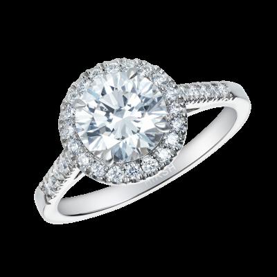Regal Ring with Round Diamond