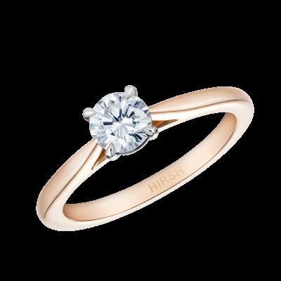 Round Brilliant Cut Diamond Solitaire in 18K Rose Gold