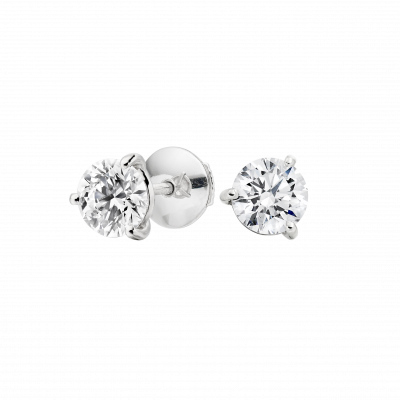 Solitaire Diamond Studs 0.80 carats total
